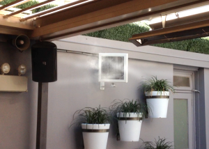 Cool Zone Mist fans for hotel courtyards