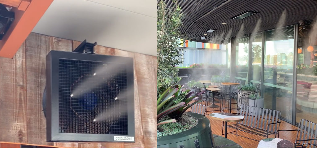 Coolzone Misting Fans